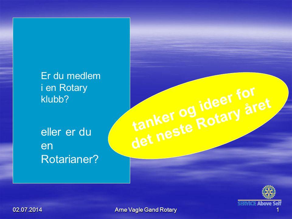 tanker og ideer for det neste Rotary året