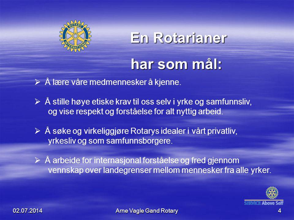En Rotarianer har som mål: