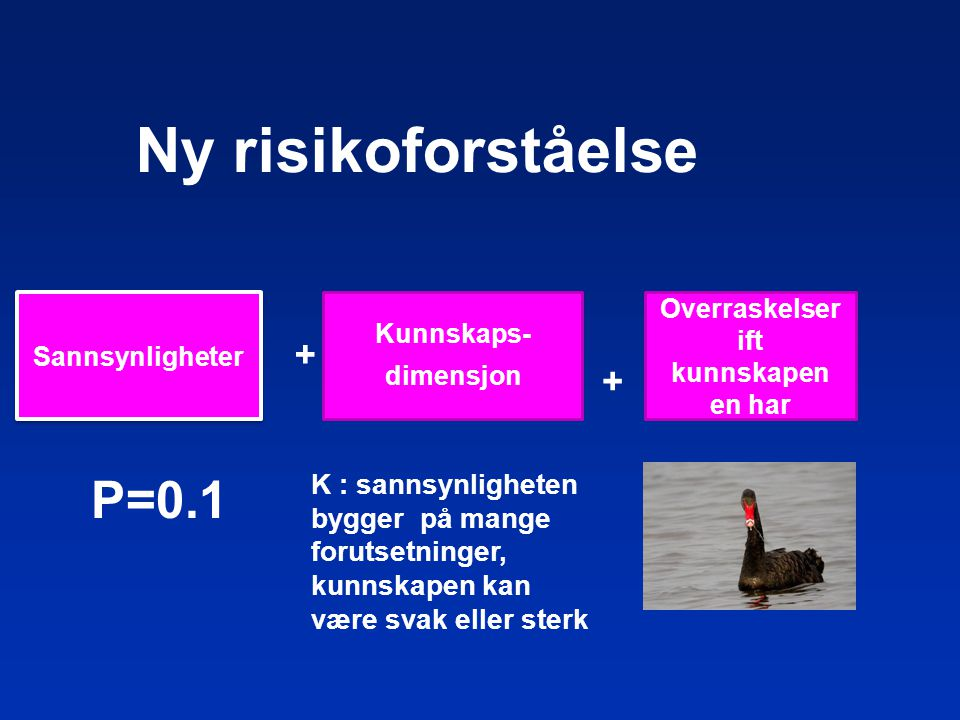Ny risikoforståelse P=0.1 + +