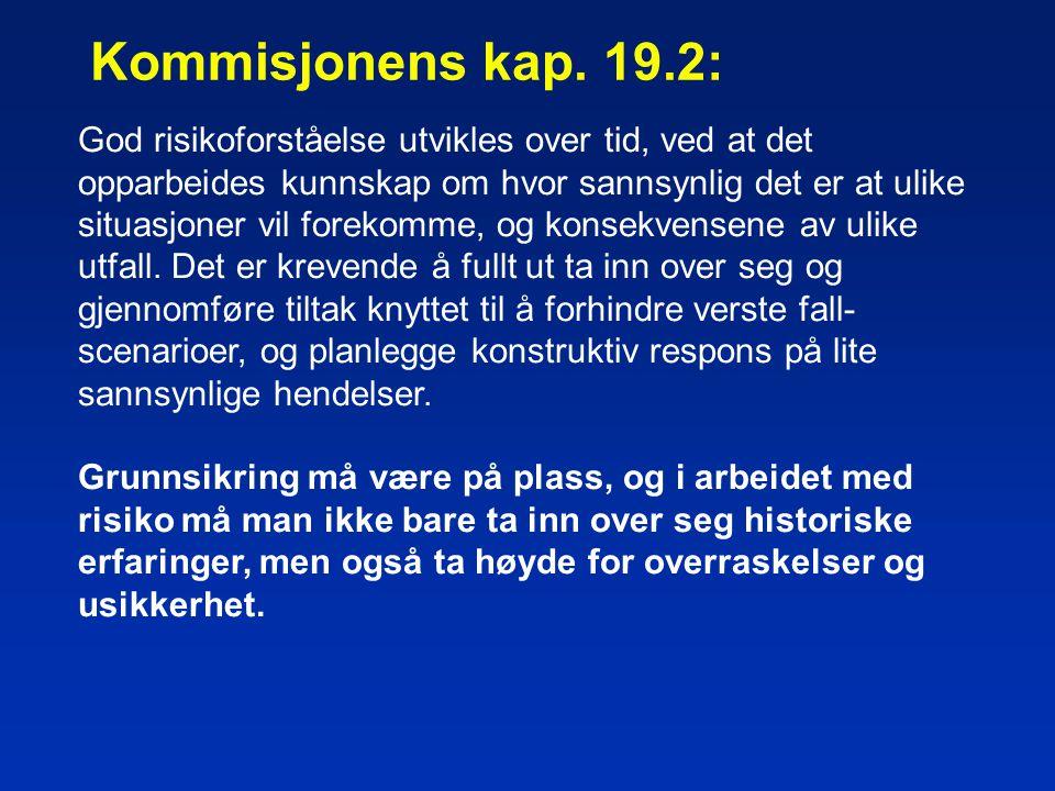 Kommisjonens kap. 19.2: