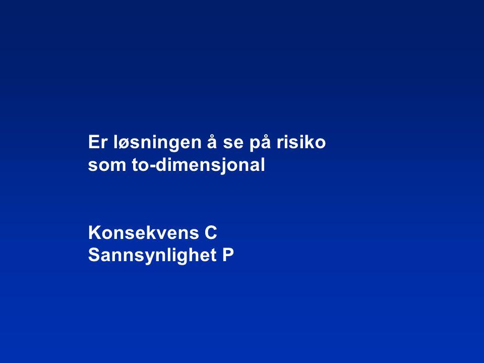 Er løsningen å se på risiko som to-dimensjonal