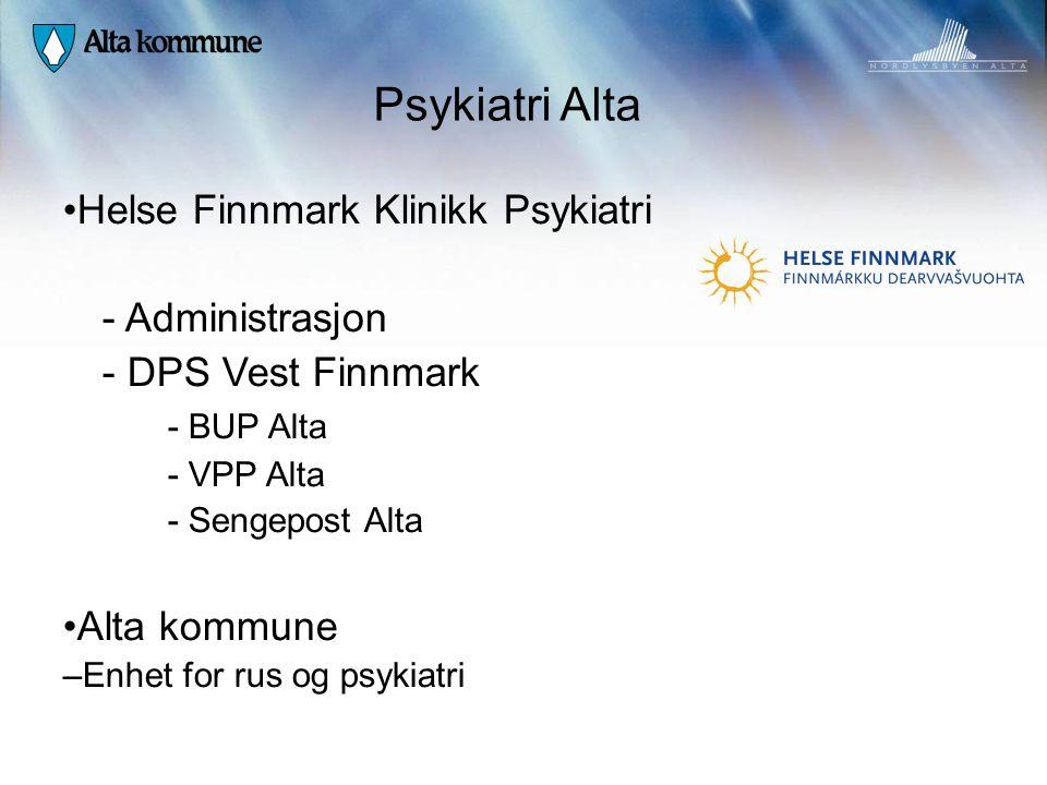 Psykiatri Alta Helse Finnmark Klinikk Psykiatri - Administrasjon