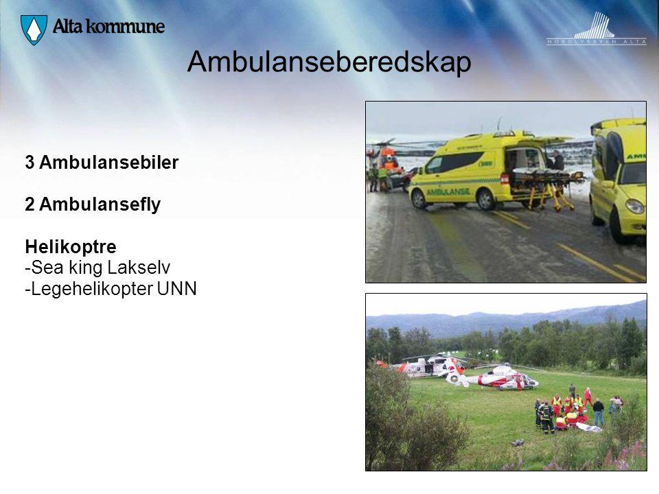 Ambulanseberedskap 3 Ambulansebiler 2 Ambulansefly Helikoptre