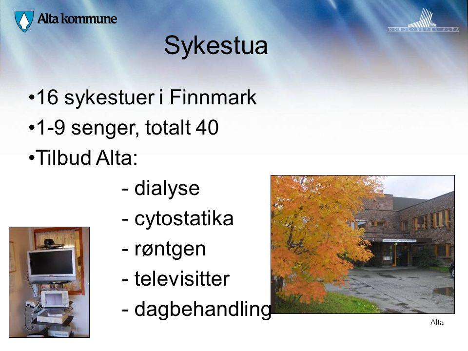 Sykestua 16 sykestuer i Finnmark 1-9 senger, totalt 40 Tilbud Alta: