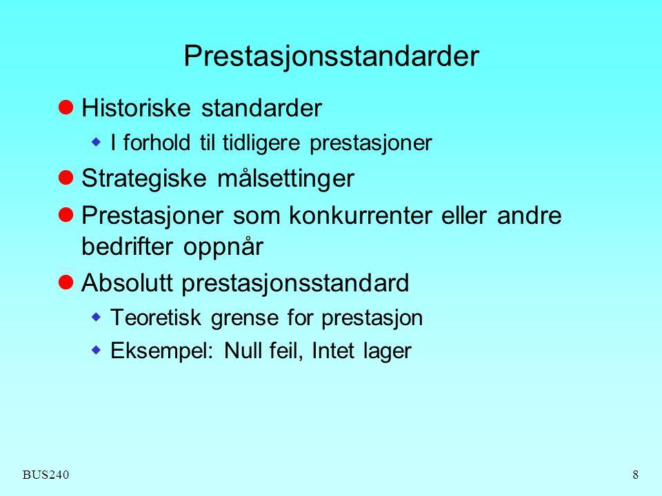 Prestasjonsstandarder