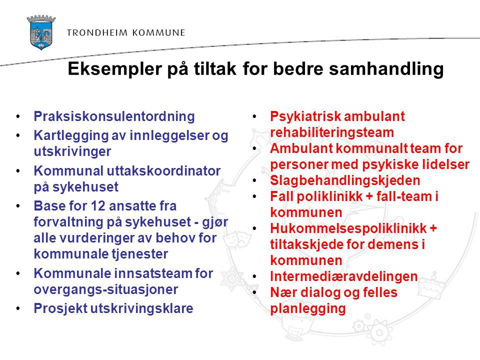 Eksempler på tiltak for bedre samhandling