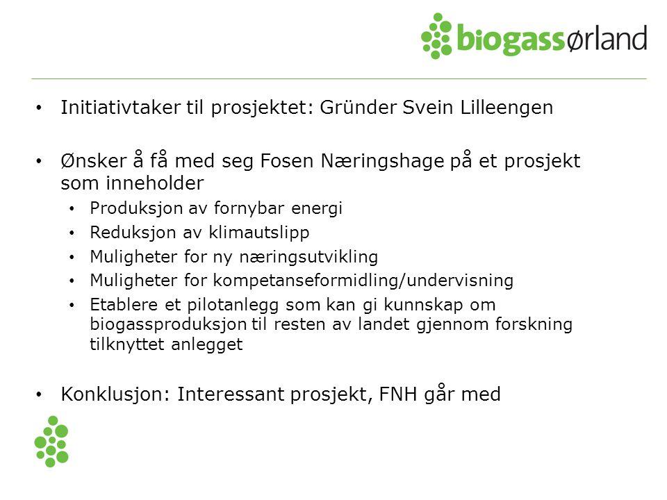 Initiativtaker til prosjektet: Gründer Svein Lilleengen