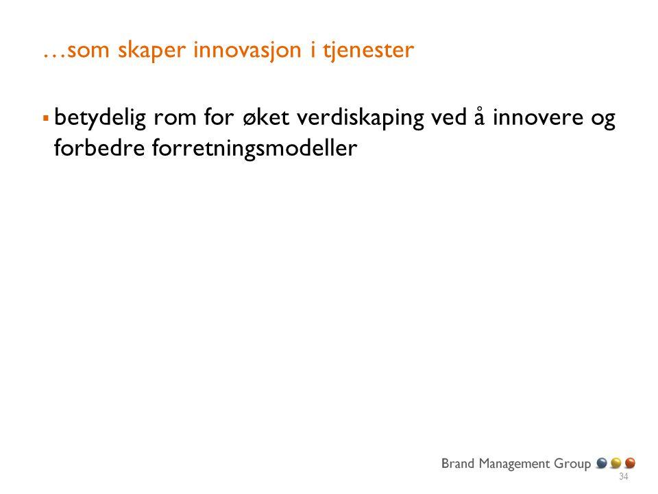 …som skaper innovasjon i tjenester