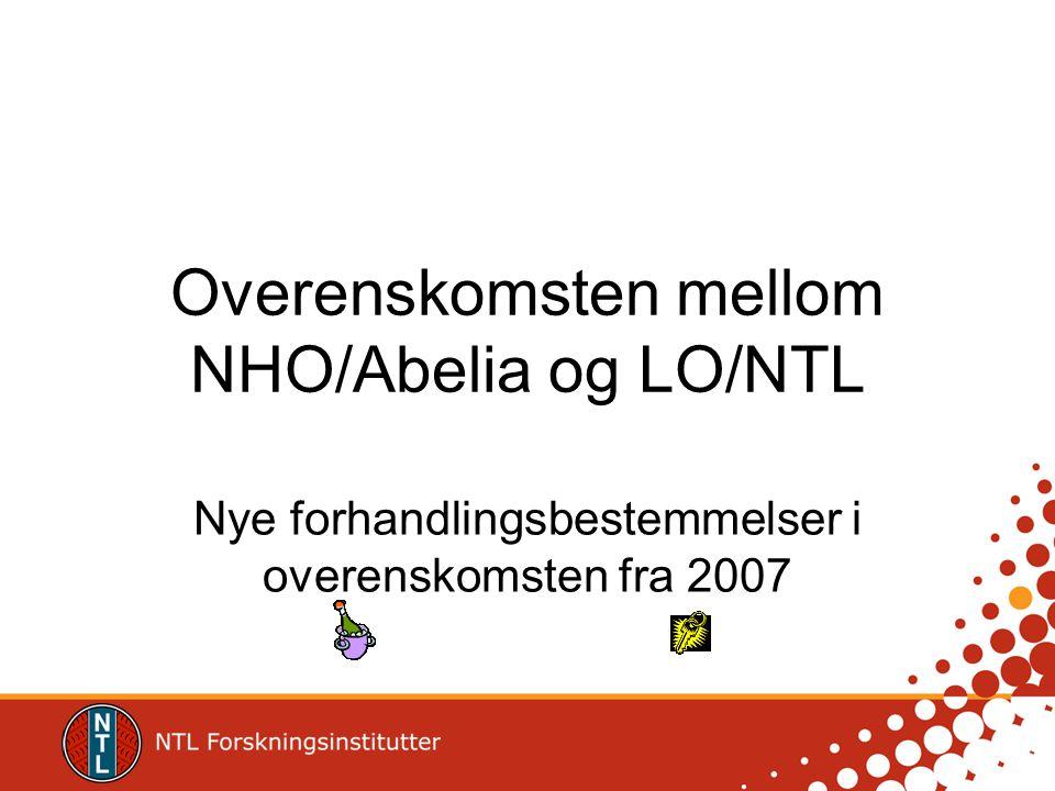 Overenskomsten mellom NHO/Abelia og LO/NTL