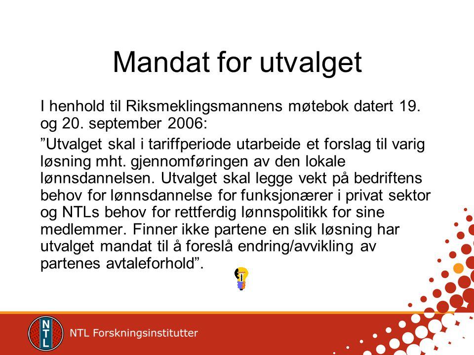 Mandat for utvalget I henhold til Riksmeklingsmannens møtebok datert 19. og 20. september 2006: