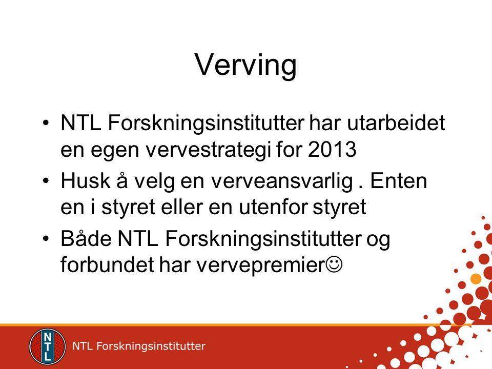 Verving NTL Forskningsinstitutter har utarbeidet en egen vervestrategi for 2013.