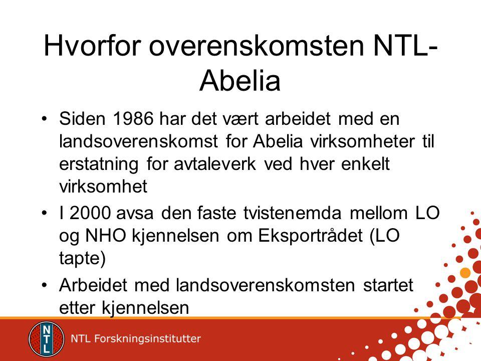 Hvorfor overenskomsten NTL-Abelia