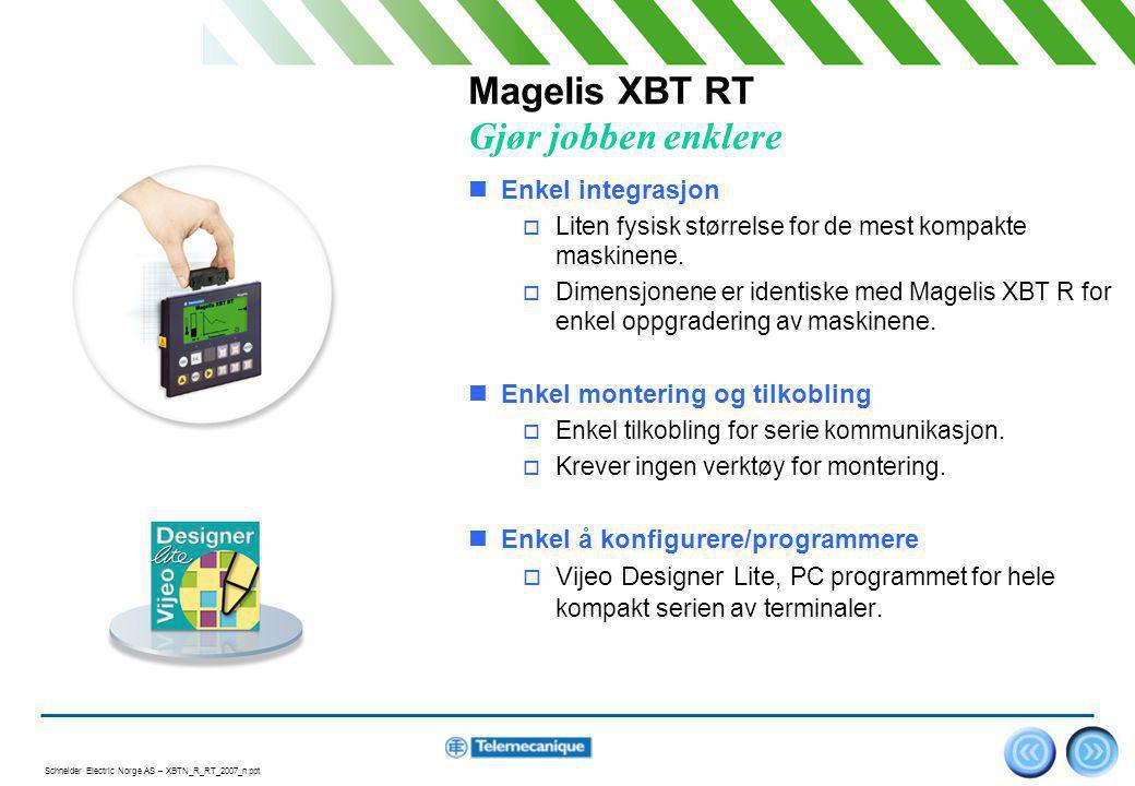 Magelis XBT RT Gjør jobben enklere