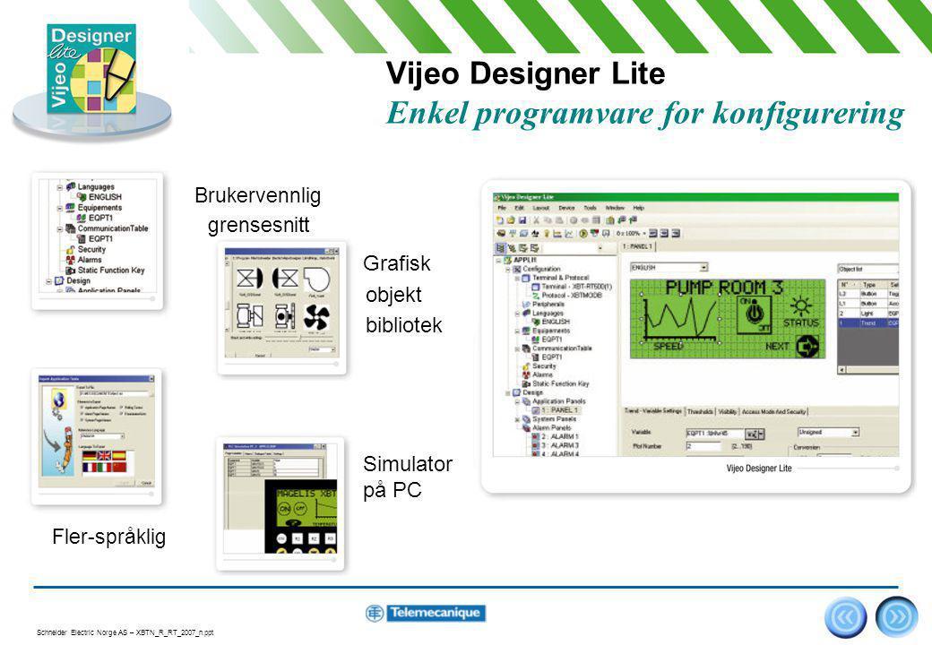 Vijeo Designer Lite Enkel programvare for konfigurering