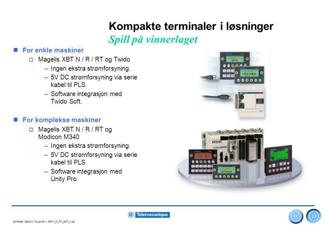Kompakte terminaler i løsninger Spill på vinnerlaget
