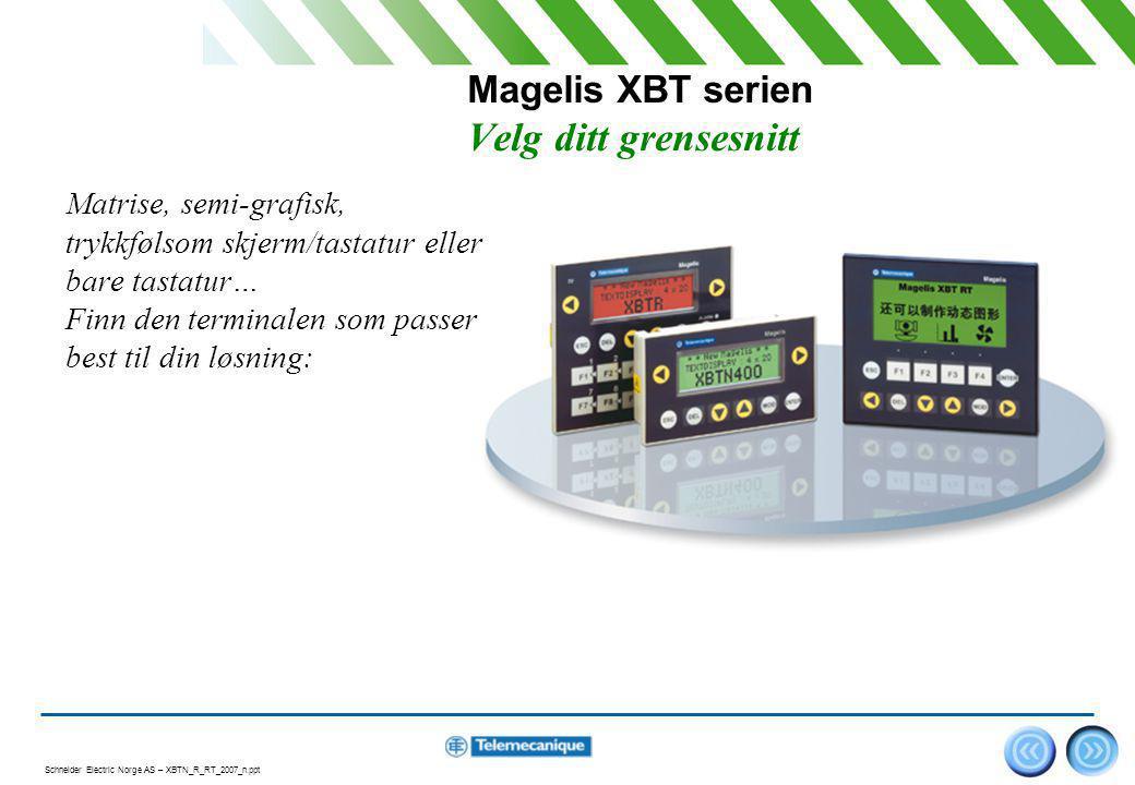 Magelis XBT serien Velg ditt grensesnitt