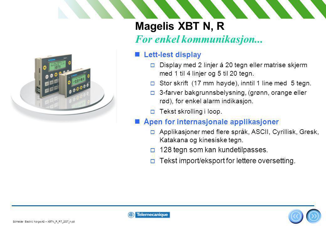Magelis XBT N, R For enkel kommunikasjon...