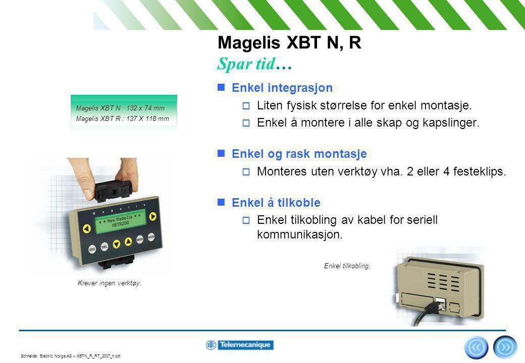 Magelis XBT N, R Spar tid…