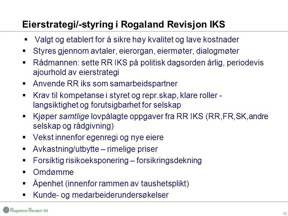Eierstrategi/-styring i Rogaland Revisjon IKS