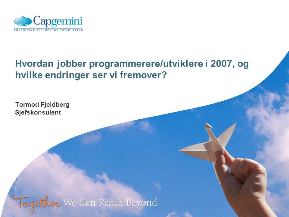 Introduksjon Tormod Fjeldberg Sjefskonsulent innen Service Management