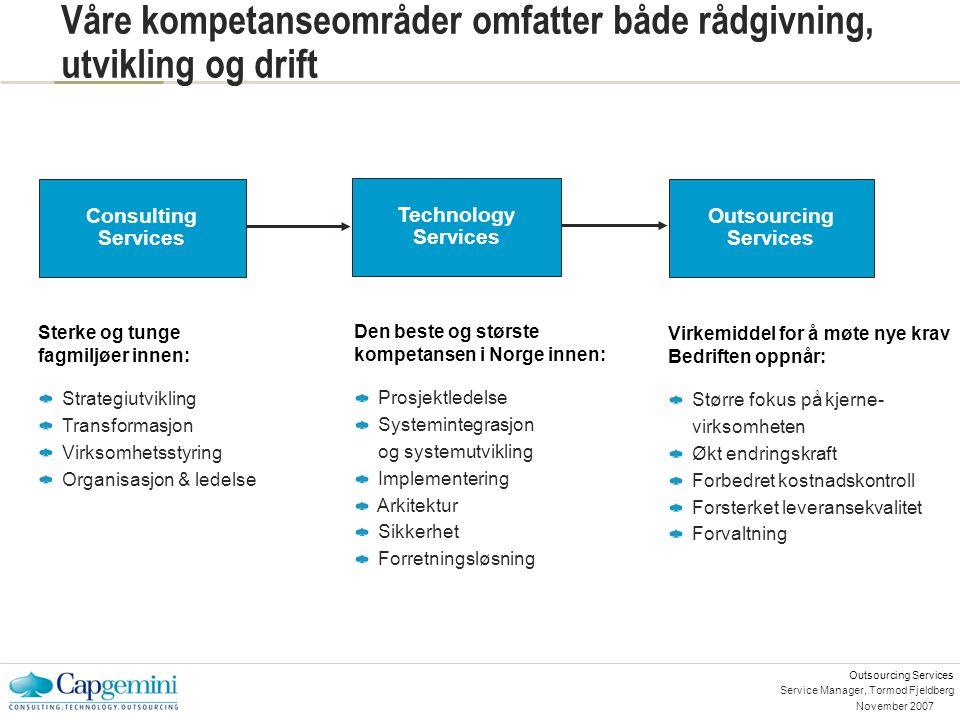 Service Manager, Tormod Fjeldberg