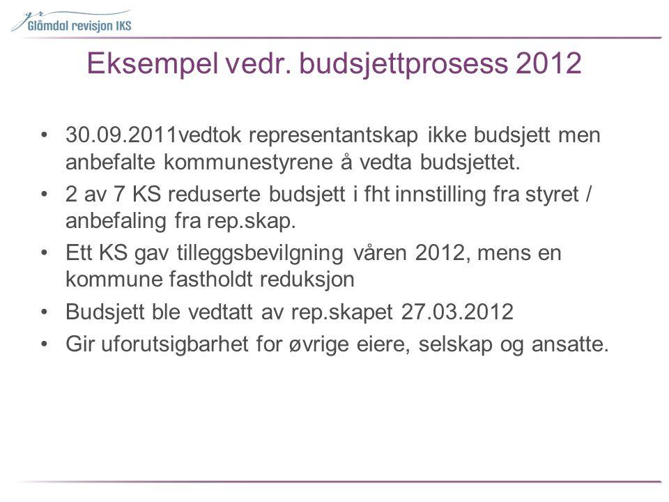 Eksempel vedr. budsjettprosess 2012