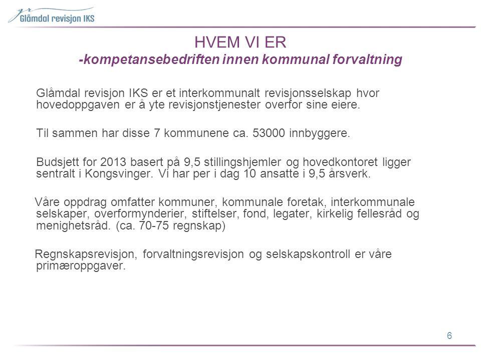 HVEM VI ER -kompetansebedriften innen kommunal forvaltning