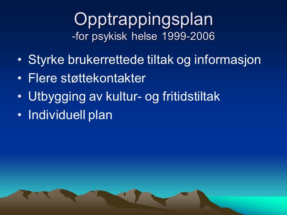 Opptrappingsplan -for psykisk helse 1999-2006