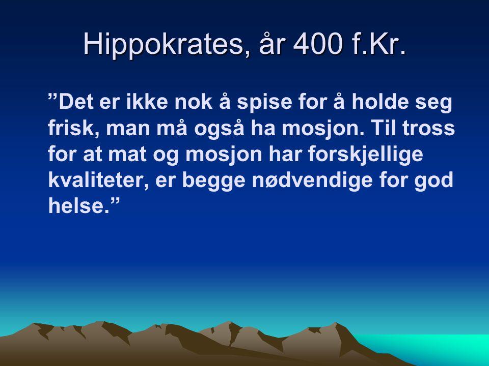 Hippokrates, år 400 f.Kr.