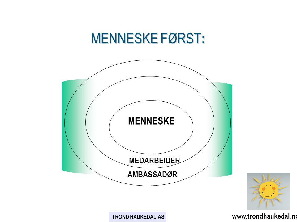 MENNESKE FØRST: AMBASSADØR www.trondhaukedal.no MENNESKE MEDARBEIDER