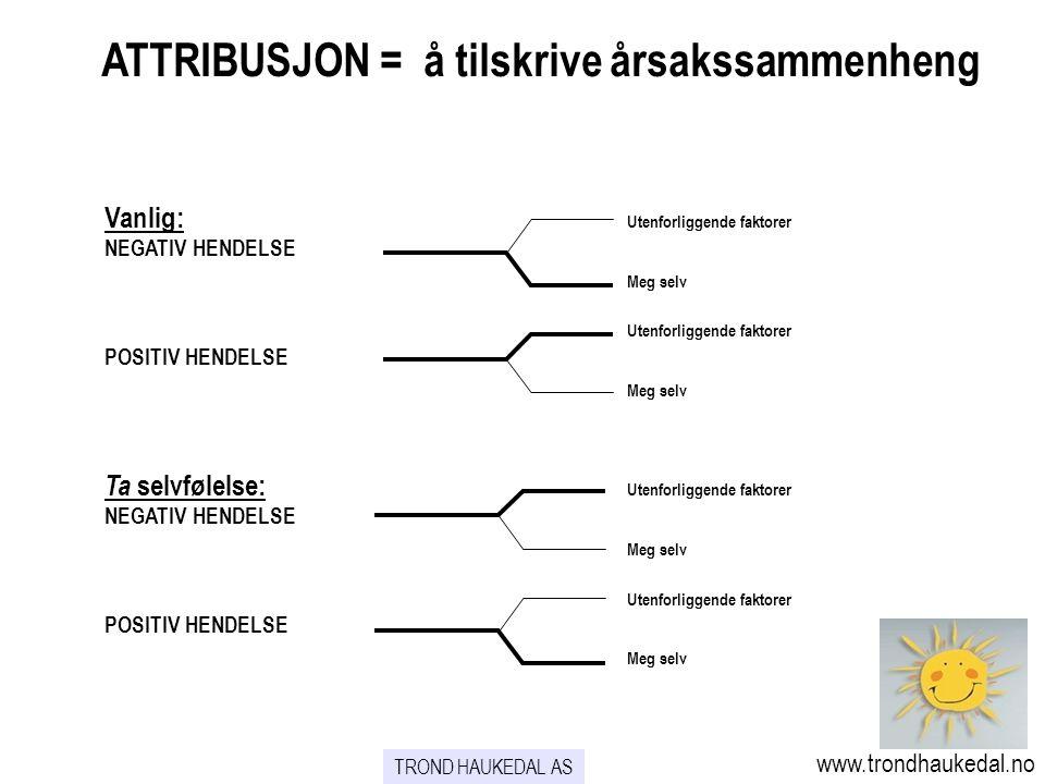 ATTRIBUSJON = å tilskrive årsakssammenheng