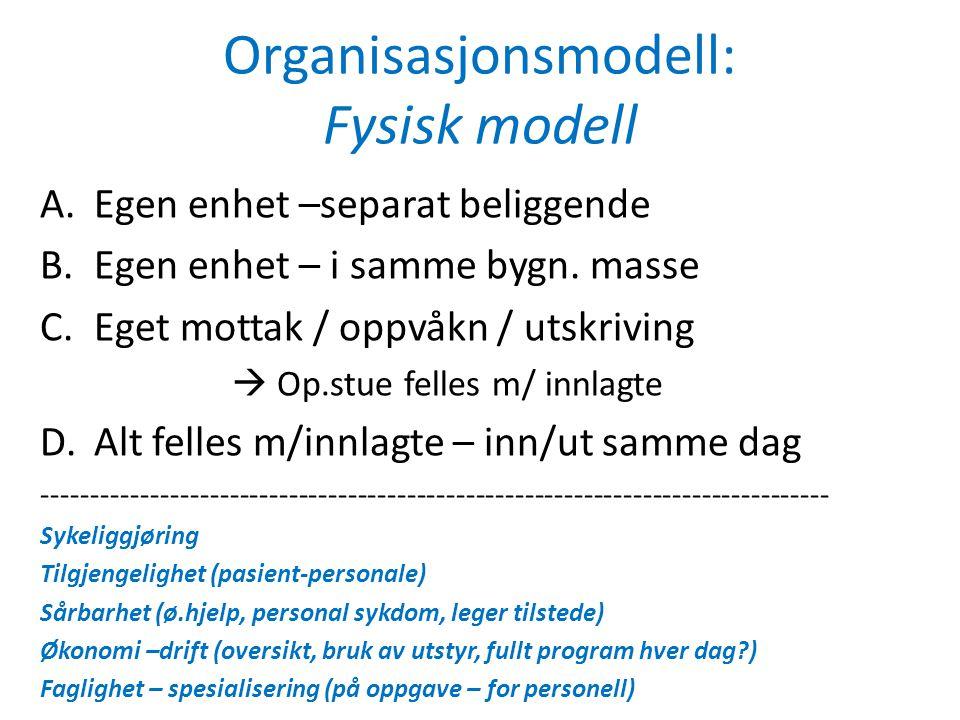 Organisasjonsmodell: Fysisk modell