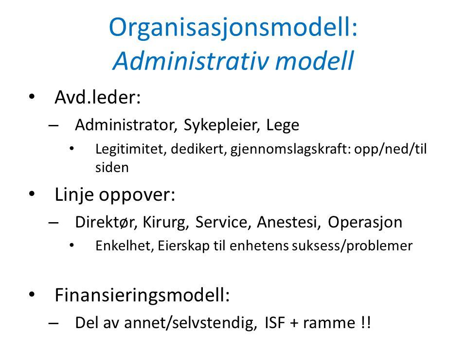 Organisasjonsmodell: Administrativ modell