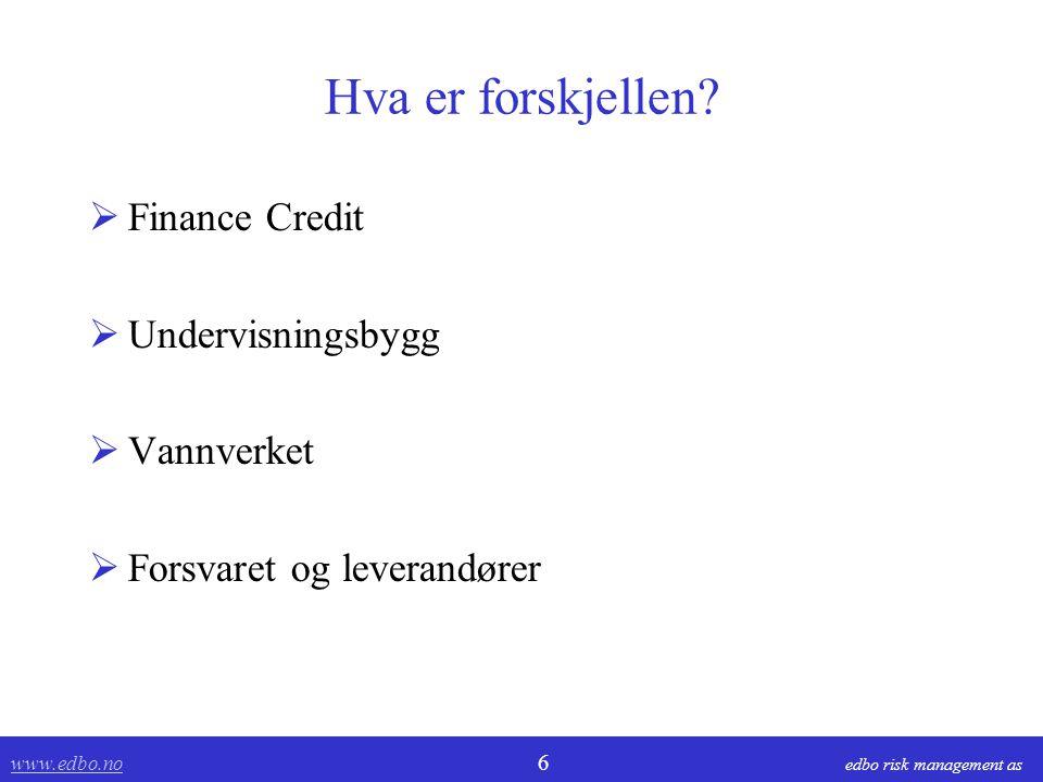 Hva er forskjellen Finance Credit Undervisningsbygg Vannverket
