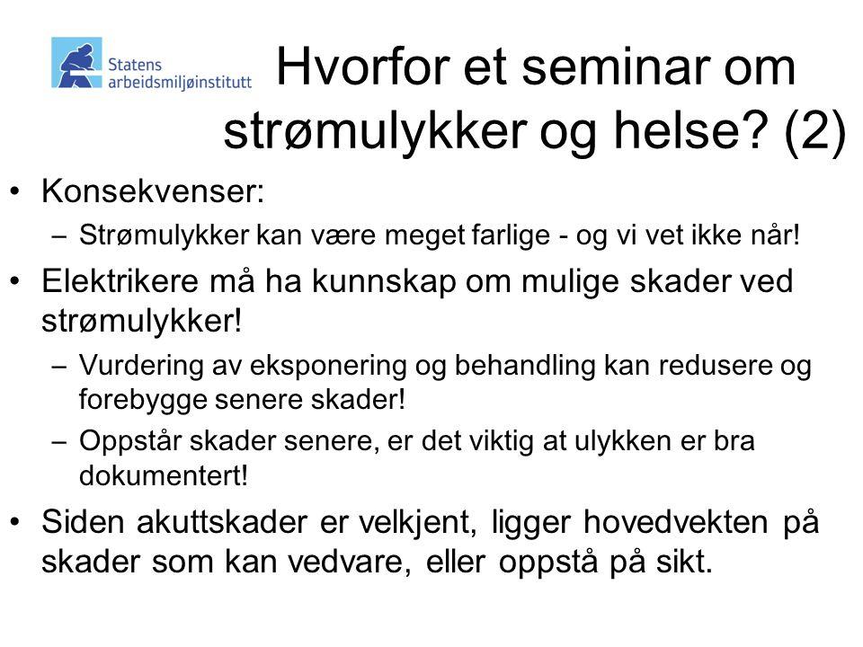 Hvorfor et seminar om strømulykker og helse (2)