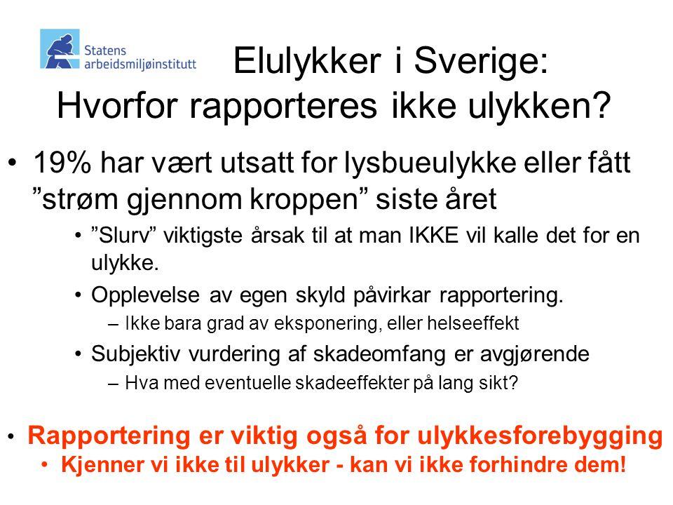 Elulykker i Sverige: Hvorfor rapporteres ikke ulykken