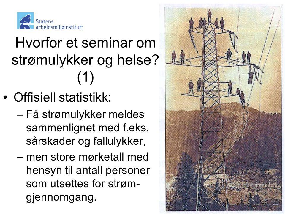 Hvorfor et seminar om strømulykker og helse (1)