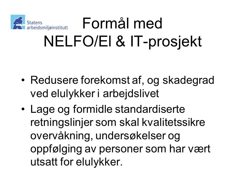 Formål med NELFO/El & IT-prosjekt