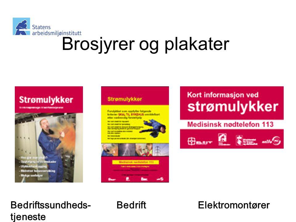 Brosjyrer og plakater Bedriftssundheds-tjeneste Bedrift