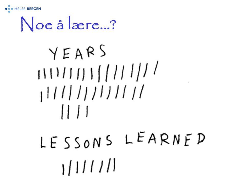 Noe å lære…