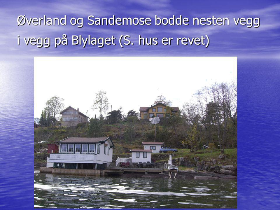 Øverland og Sandemose bodde nesten vegg i vegg på Blylaget (S