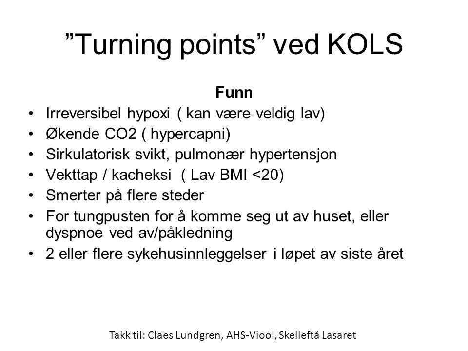 Turning points ved KOLS