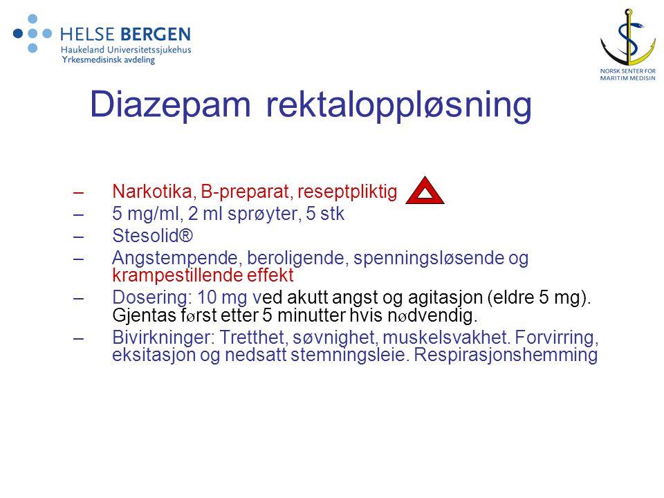 Diazepam rektaloppløsning