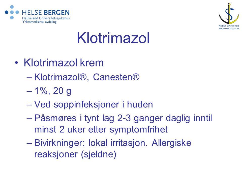 Klotrimazol Klotrimazol krem Klotrimazol®, Canesten® 1%, 20 g