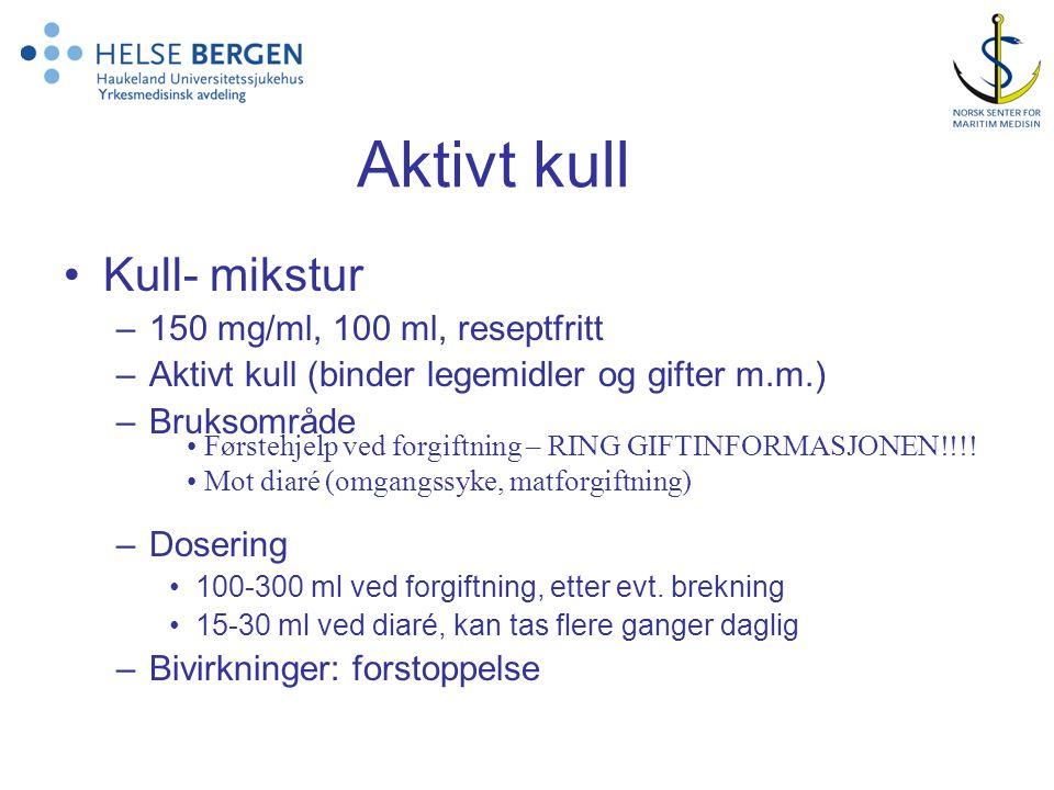 Aktivt kull Kull- mikstur 150 mg/ml, 100 ml, reseptfritt