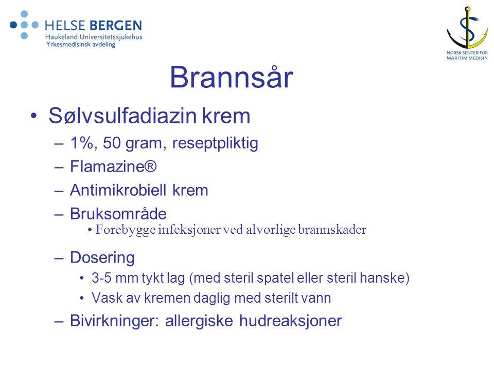 Brannsår Sølvsulfadiazin krem 1%, 50 gram, reseptpliktig Flamazine®