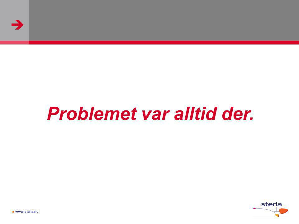 Problemet var alltid der.