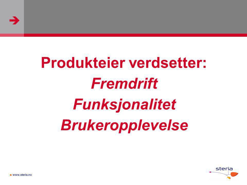 Produkteier verdsetter:
