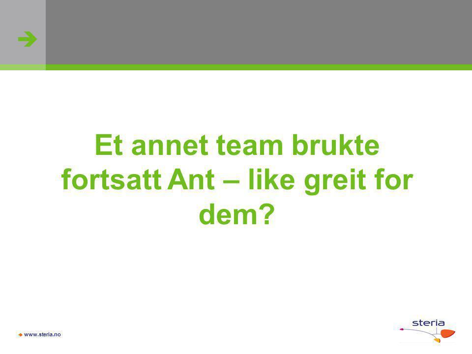 Et annet team brukte fortsatt Ant – like greit for dem