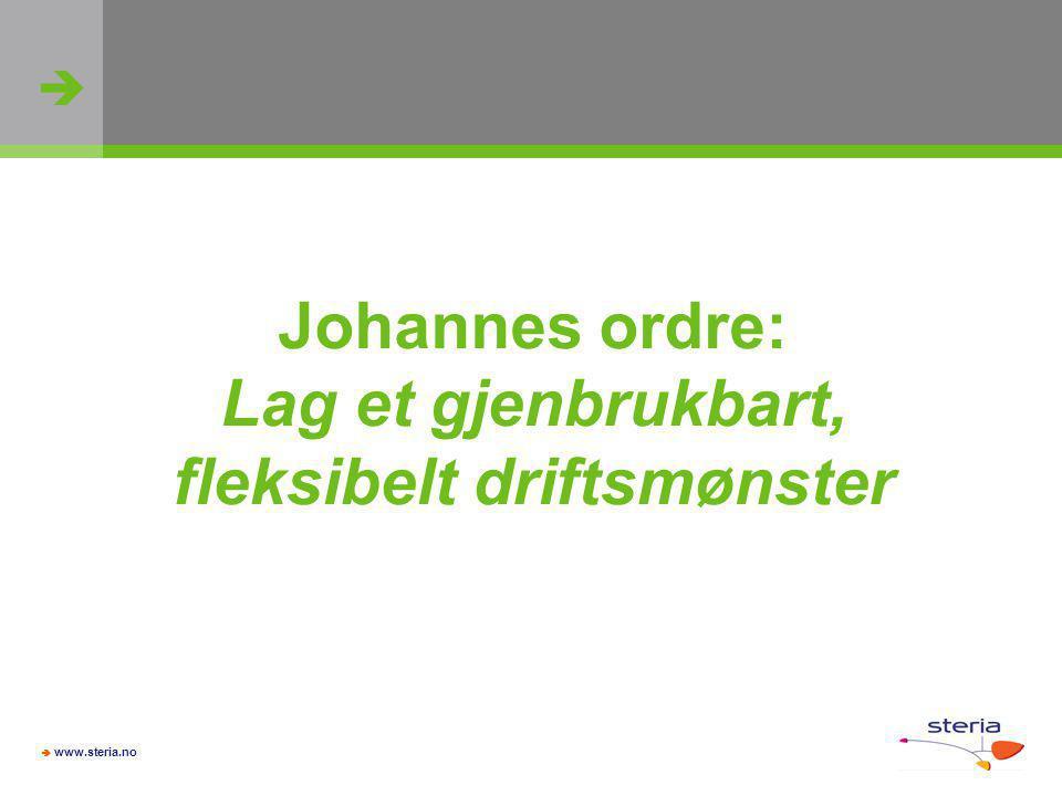 Johannes ordre: Lag et gjenbrukbart, fleksibelt driftsmønster